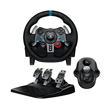 a7b9ee6457a Logitech G29 Driving Force Racing Wheel & Pedals Plus Gear Shifter Bundle  (PS4 / PS3