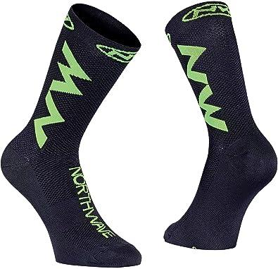 Northwave Juego de 3 Calcetines de Ciclismo para Hombre, Color Negro y Verde: Amazon.es: Zapatos y complementos