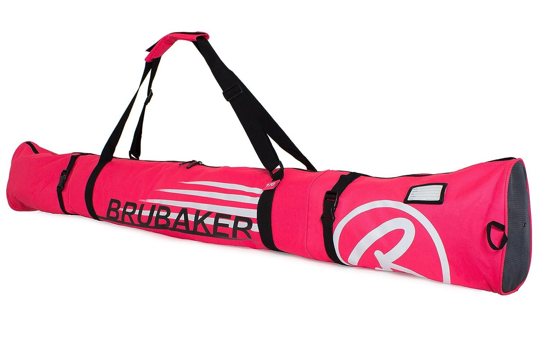 BRUBAKER Borsa porta scarponi con scomparto casco et sacca da sci colore neon fuchsia bianco