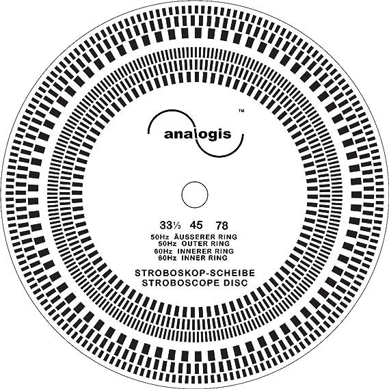 Analogis Pitch de 33 – 45 – 78 estroboscopio Disco para Tocadiscos ...