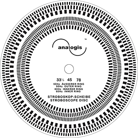 Analogis Perfect Pitch de 33 - 45 - 78 estroboscopio Disco ...