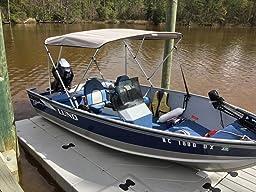 Amazon Com Msc 3 Bow Bimini Boat Top Cover With Rear
