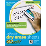"Pacon INVAS8511 GoWrite! Self Stick Dry-Erase Sheets, 8.5"" x 11"""