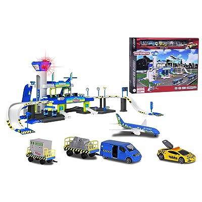 Aeropuerto de Creatix con luz, sonido y 5 vehículos (Majorette 2050018): Juguetes y juegos