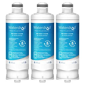 Waterdrop DA97-17376B Refrigerator Water Filter, Compatible with Samsung Genuine DA97-17376B, DA97-08006C, HAF-QIN, HAF-QIN/EXP, Pack of 3