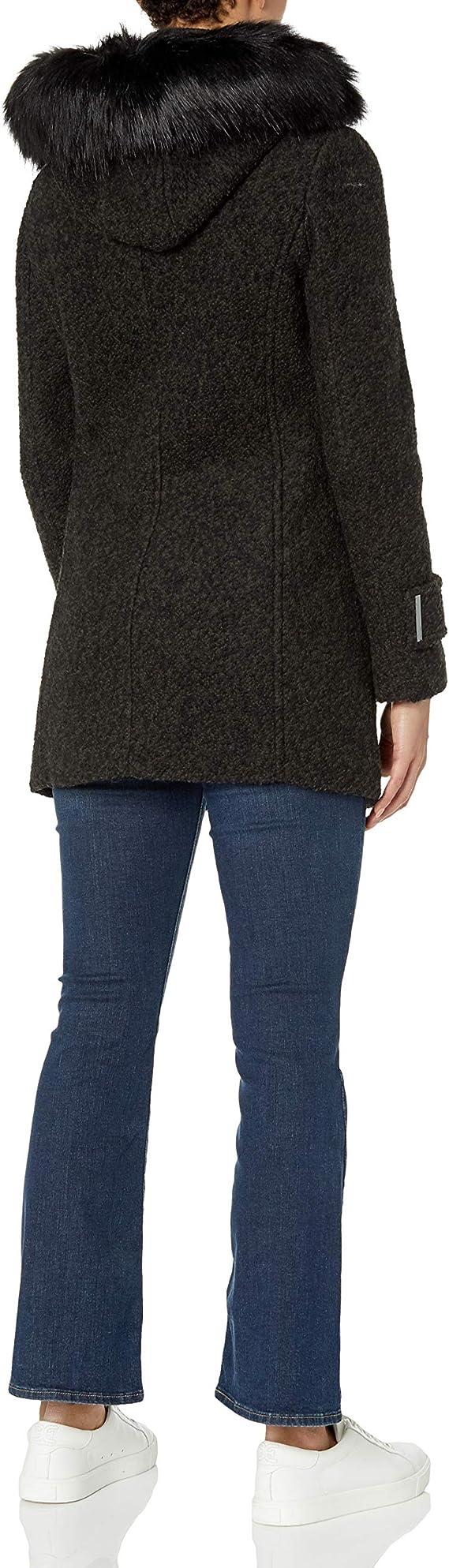 Calvin Klein 卡尔文克莱因 CK 女式连帽羊毛呢大衣外套 1.6折.49起 海淘转运到手约¥327