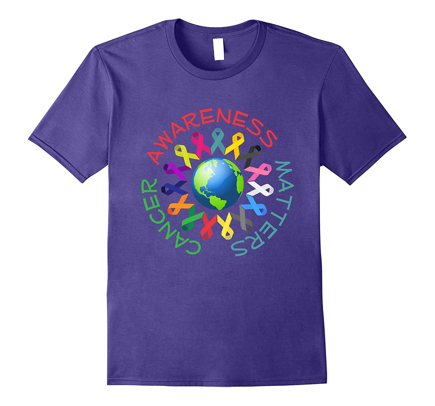 All Cancer Ribbons for All Cancer Awareness T-Shirt-BN