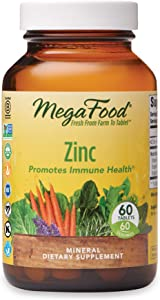 MegaFood, Zinc, Immune Health Support, Mineral and Dietary Supplement Vegan, 60 Tablets (60 Servings)