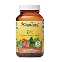 MegaFood, Zinc, Immune Health Support, Mineral and Dietary Supplement Vegan, 60...