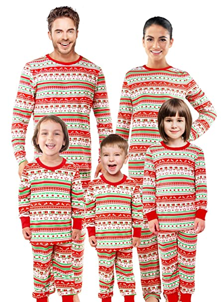 ad22d7315fe2 SUNNYBUY Christmas Family Matching Pajama Set Xmas Pyjamas Sleepwear  Holiday Pjs (Kids 3T)
