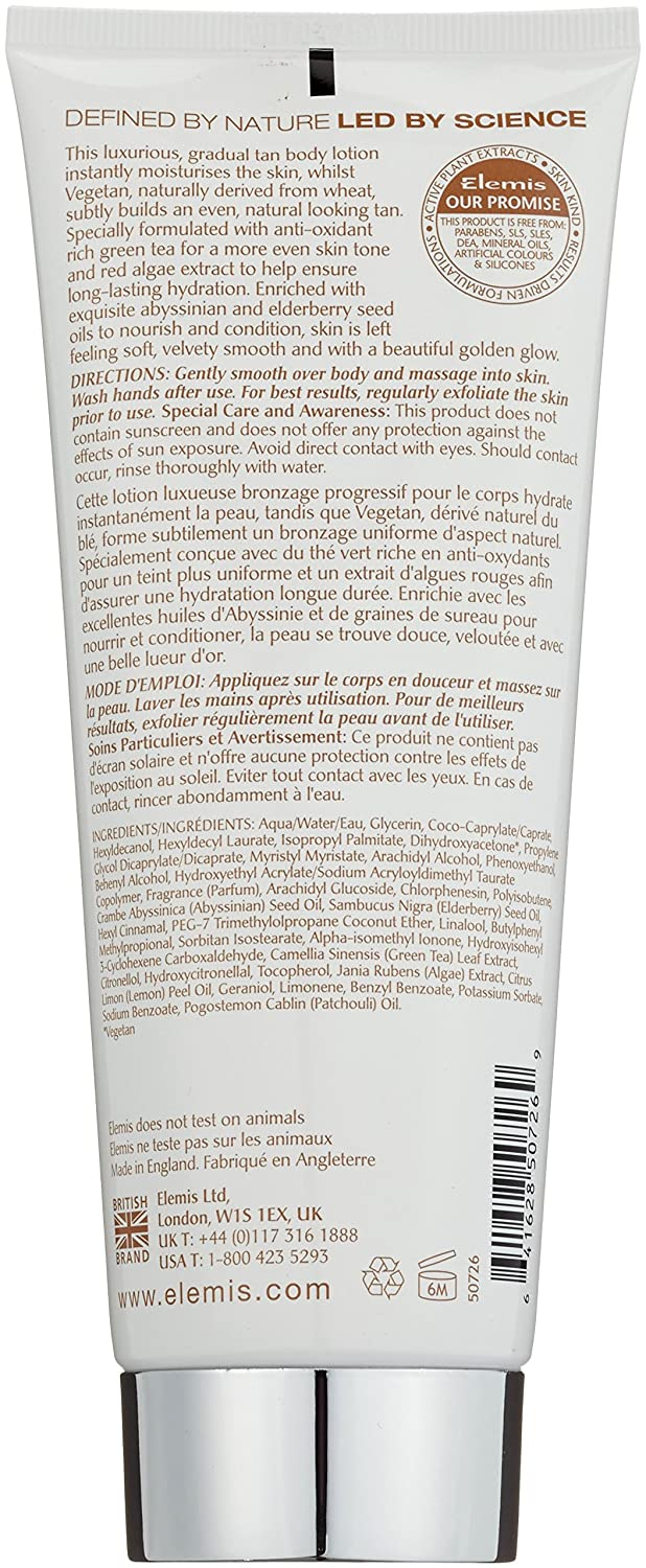 Elemis Total Glow Bronzing Body Lotion, Gradual Tan Body Moisturiser, 200 ml 50726