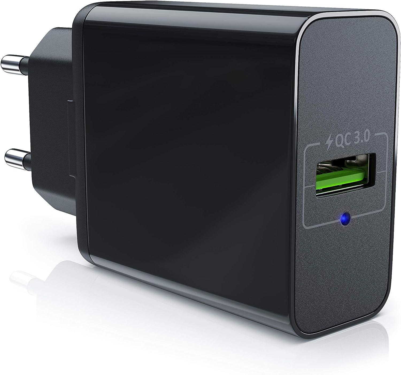 aplic - Cargador USB con función de Carga rápida Quick Charge - Fuente de alimentación Quick Cahrge 3.0 - Carga Inteligente Smart Charge - Solid Charge - Apro para Smartphones, Tablets y Otros