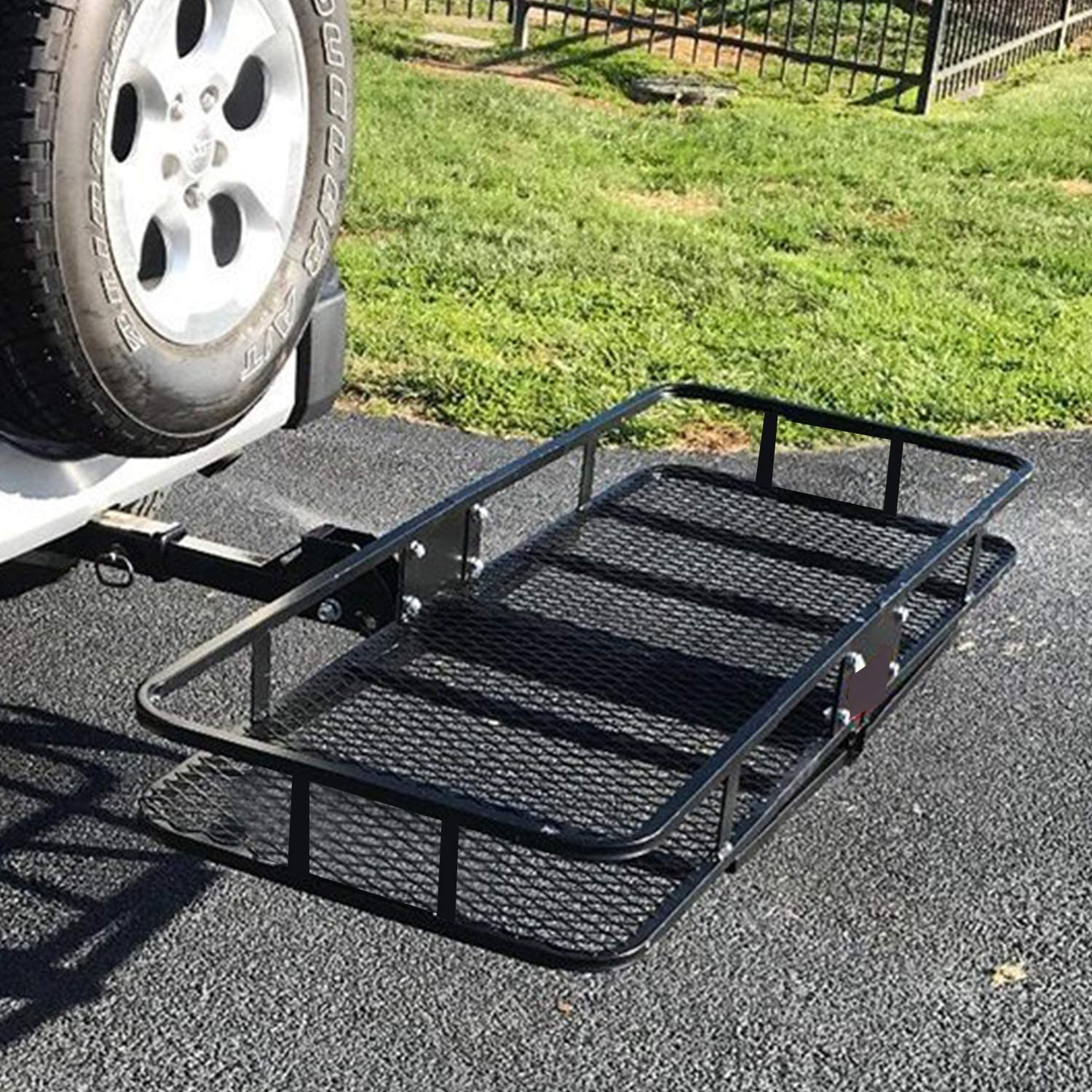 W x 9 x 60 CAR DRESS Hitch Cargo Carrier 47.5 Luggage Rack 500 lbs Capacity Fits 2 Receiver H L