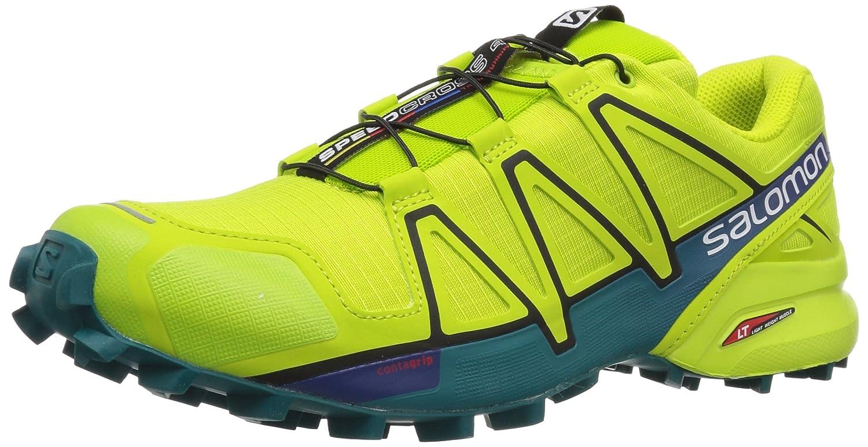 Salomon Herren Speedcross 4 Traillaufschuhe  42 2/3 EU|Gr眉n (Acid Lime/Lime Green/Deep Lake 000)