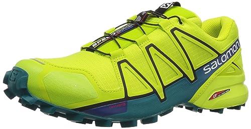 Salomon Speedcross 4, Scarpe da Trail Running Uomo, Arancione (Flame/Black/Red Dalhia), 45 1/3 EU