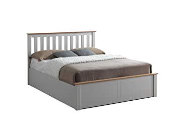 Brilliant Birlea Phoenix 5Ft Kingsize Ottoman Bed Pearl Grey Oak King Gmtry Best Dining Table And Chair Ideas Images Gmtryco