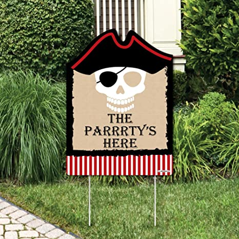 Amazon Com Beware Of Pirates Party Decorations Pirate Birthday