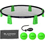"GoSports Slammo XL Game Set - Huge 48"" Net - Great for Beginners, Younger Players or Group Play, Green"