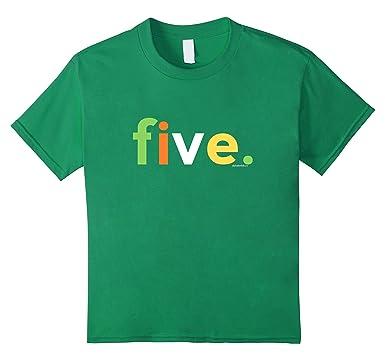 Kids 5th Birthday Shirt For Boys 5