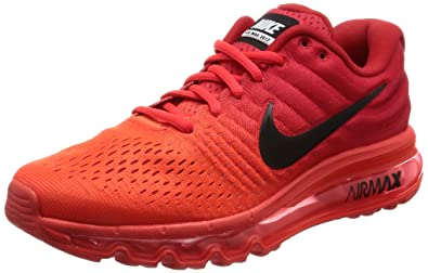 Amazoncom Nike Air Max Mens 2017 Running Shoes Bright Crimson