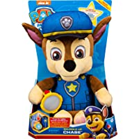 Paw Patrol 6054735 Snuggle Up Chase Plush with Torch and Sounds, for Kids Aged 3 Years and Over, Multicolour
