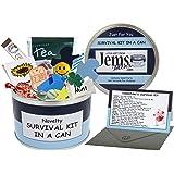 """Jemsideas - Boîte métallique """"kit de survie"""" pour Saint-Valentin avec cadeaux et carte, pour petit ami, fiancé, ami, mari, partenaire - Couleur de la boîte au choix - En anglais - - - -"""