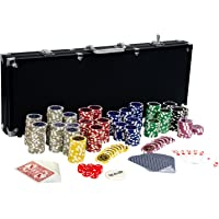Maxstore Ultimate Black Edition Pokerset, 500 Chips