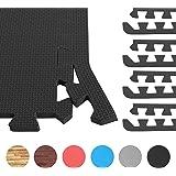 GORILLA SPORTS 8 Schutzmatten-Endstücke Schaumstoff - 5 Farbvarianten mit 60 cm-Länge + 1,2 cm-Dicke