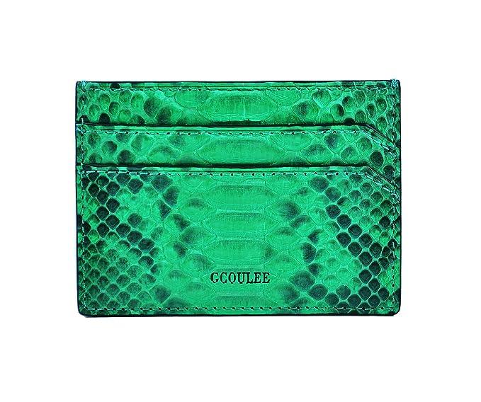 8ba8c8b3e292 Card holder men's wallet card case leather pocket wallet luxury men's  cardholder green wallet business card