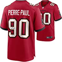 $199 » Jason Pierre-Paul Tampa Bay Buccaneers Autographed Red Nike Game Jersey - Autographed NFL Jerseys