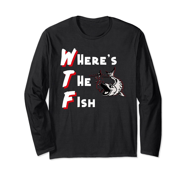 de0cd300 WTF Where's The Fish Men's Funny Fishing T-Shirt-TH - TEEHELEN