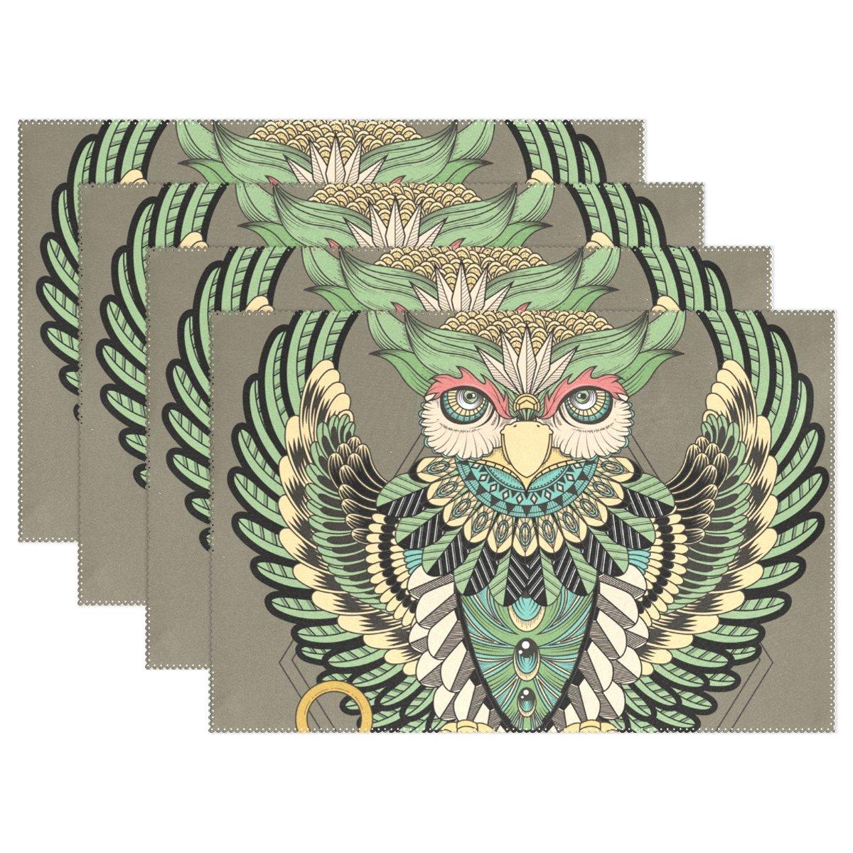 ネイティブアメリカンインディアンアートプリントプレースマットテーブルマット、12