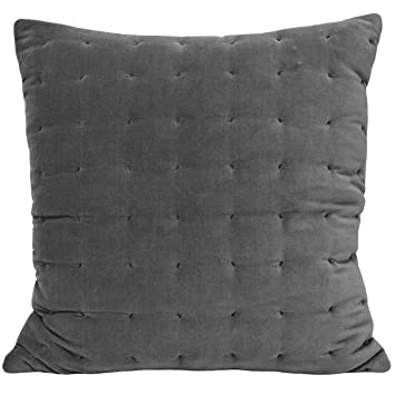 Riva Home Lexington   Housse de coussin (55x55 cm) (Gris): Amazon