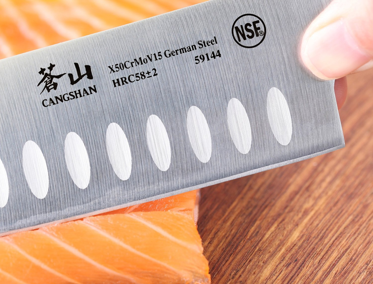 Cangshan X Series 59144 German Steel Forged Santoku Knife, 7-Inch by Cangshan (Image #4)