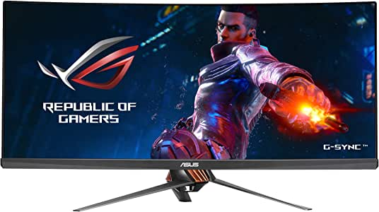 "ASUS ROG Swift PG348Q 34"" Gaming Monitor Curved Ultra-Wide 3440x1440 100Hz IPS DisplayPort USB Eye Care G-SYNC"
