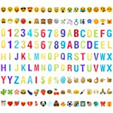 YaFex Cinema Sign Cards Including 85pcs Color Emojis + 90pcs Special Decorative Symbols and Letters for A4 Cinematic Lightbox