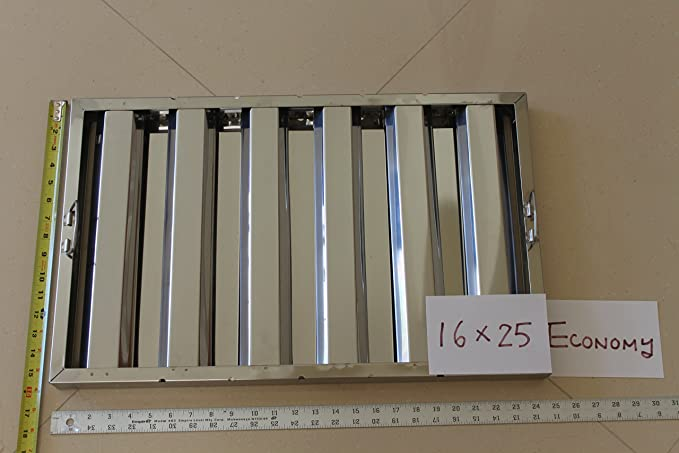 """Box Of 6 Hood Filter//grease Baffle 20/""""w X 25/""""h Stainless Steel Commercial Range"""