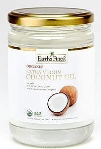 Earth`s Finest Organic Extra Virgin Raw Coconut Oil - 500 ml