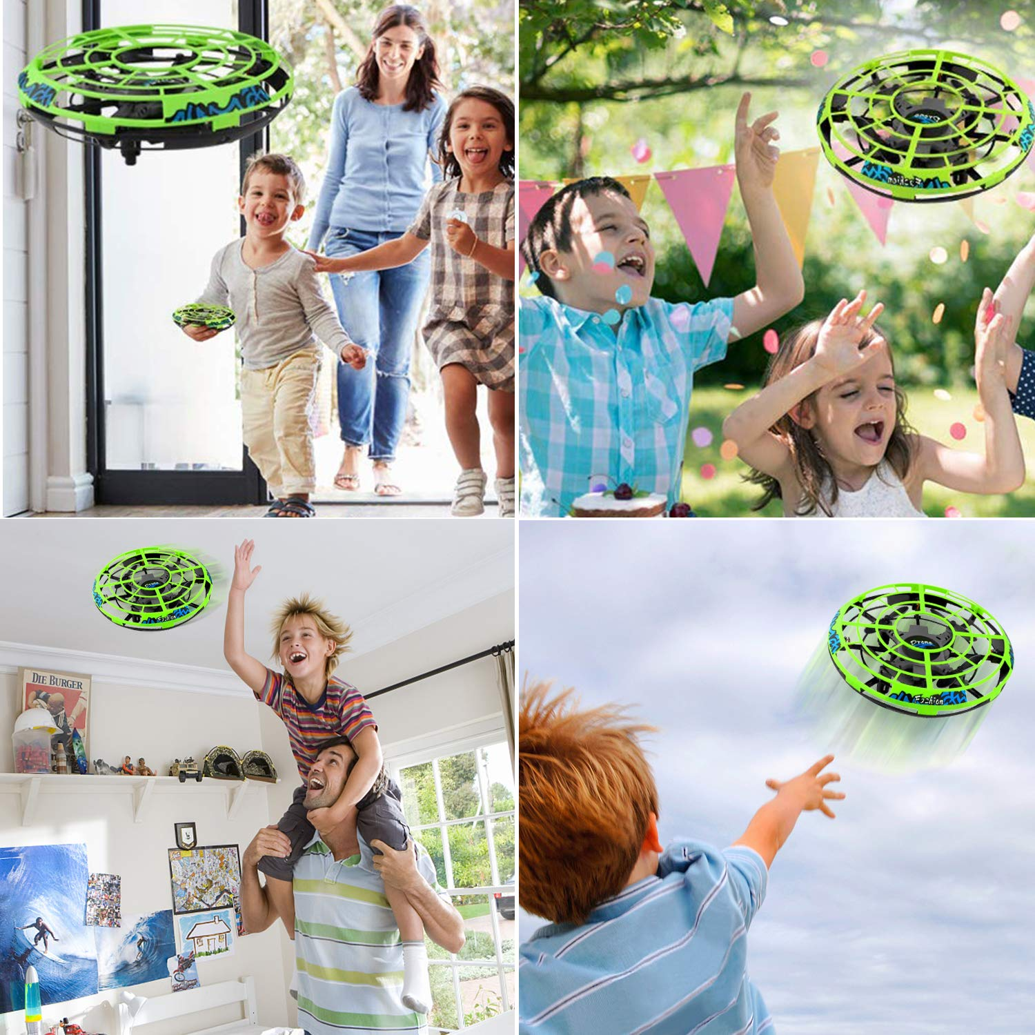 Flying Ball RC Mini Drone Flying Toys Birthday Gifts for Kids Boys Girls Airplane UFO Shape Outdoor Play Toys Remote Control Interactive Infrared Induction Helicopter Flying Saucer Toys 360° Rotating by TURNMEON    (Image #5)
