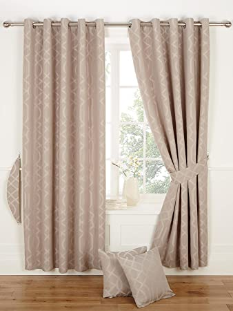 Kwai Eyelet Curtains [Single curtain width - 117 cm (46 inch ...