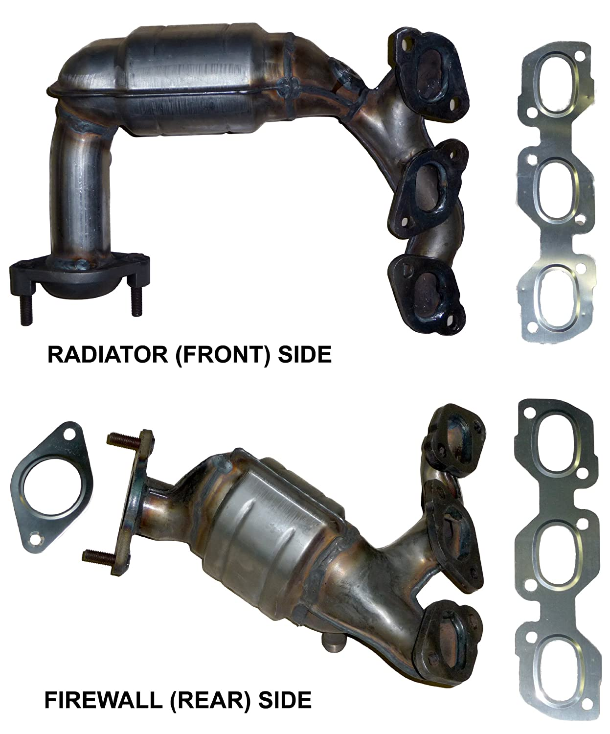 Diagram For 2003 Ford Escape Xlt Exhaust Block And Schematic 2004 F 150 Catalytic Converter Amazon Com 2002 3 0 V6 Manifold Rh