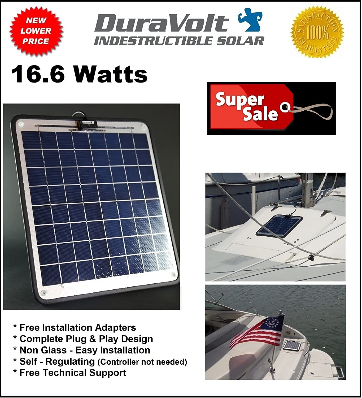 Marine solar panel installations first mate marine inc - Amazon Com Solar Battery Charger 16 6 Watt 1 Amp Boat Rv Marine Trolling Motor Solar Panel 12 Volt No Experience Plug Play Design