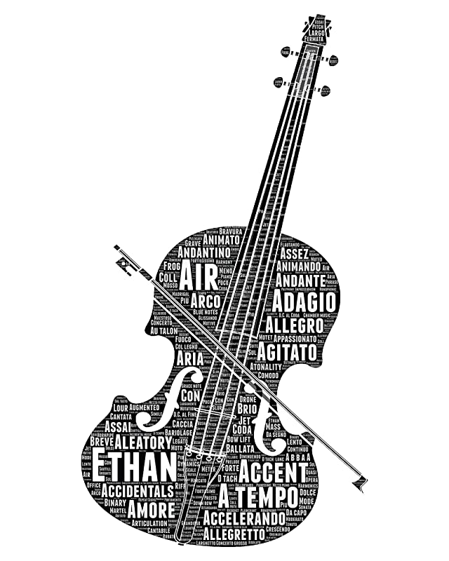 Cellist Gifts for Men Women Kids Boys Girls - Personalized Cello Gift - Musical Instrument Typography Wordle Wordart Portrait Wall Decor Print 8x10 Inch…