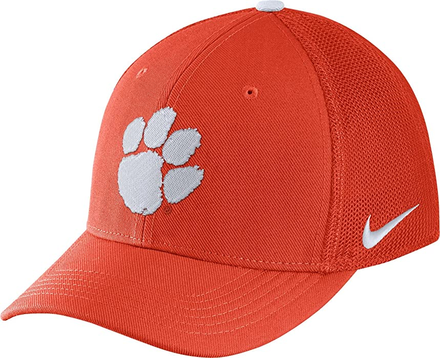 3d7e3f2cb96 Nike Men s Clemson Tigers Orange Aerobill Swoosh Flex Classic99 Hat (One  Size