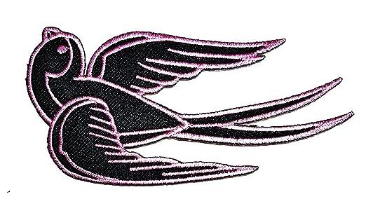 Pájaro negro y rosa tatuaje Swallow Paloma Sparrow Cartoon ...