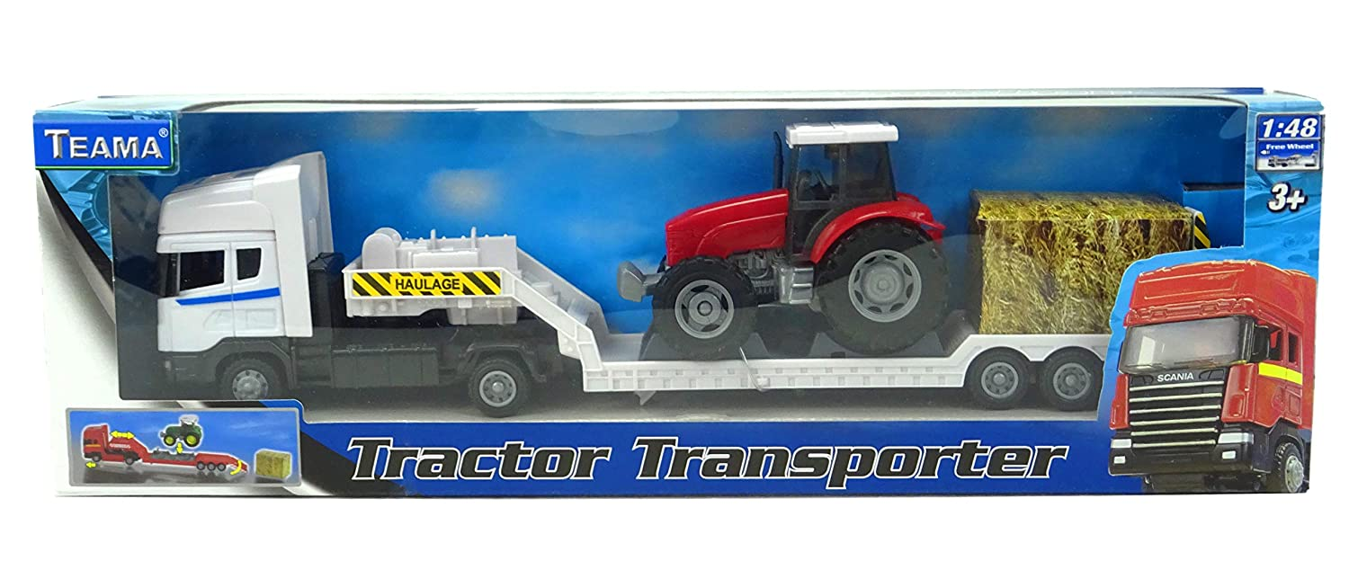 Amazon.com: banaghans metal fundido Tractor Transporter 1 ...