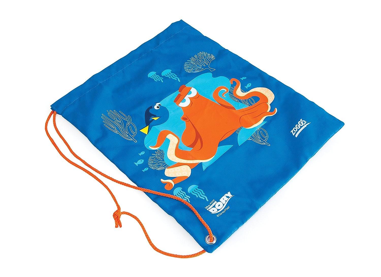 Zoggs Mochila con cierre de cordón Finding Dory ntilde;os, color azul y naranja, tamaño medium