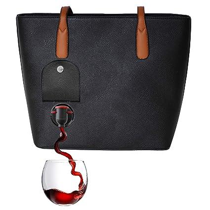 c9a12fc9cf9f0 PortoVino Wine Handbag (Black) - Fashionable Ladies Handbag With ...