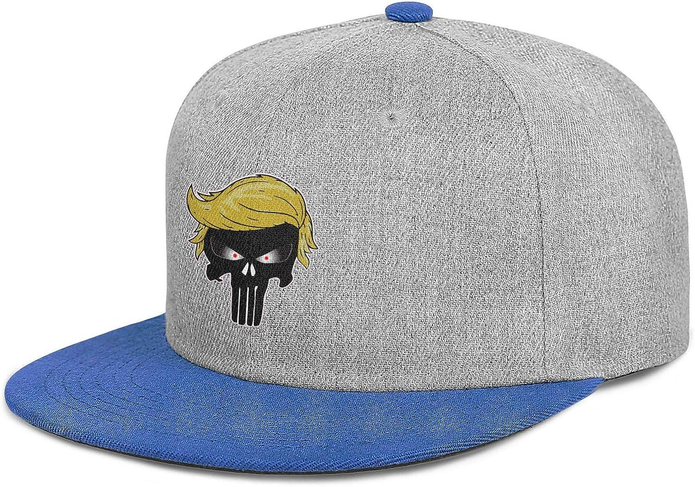 Baseball Hat Punisher Trump Hair Adjustable Unisex Hip Hop Design Teacher Hat