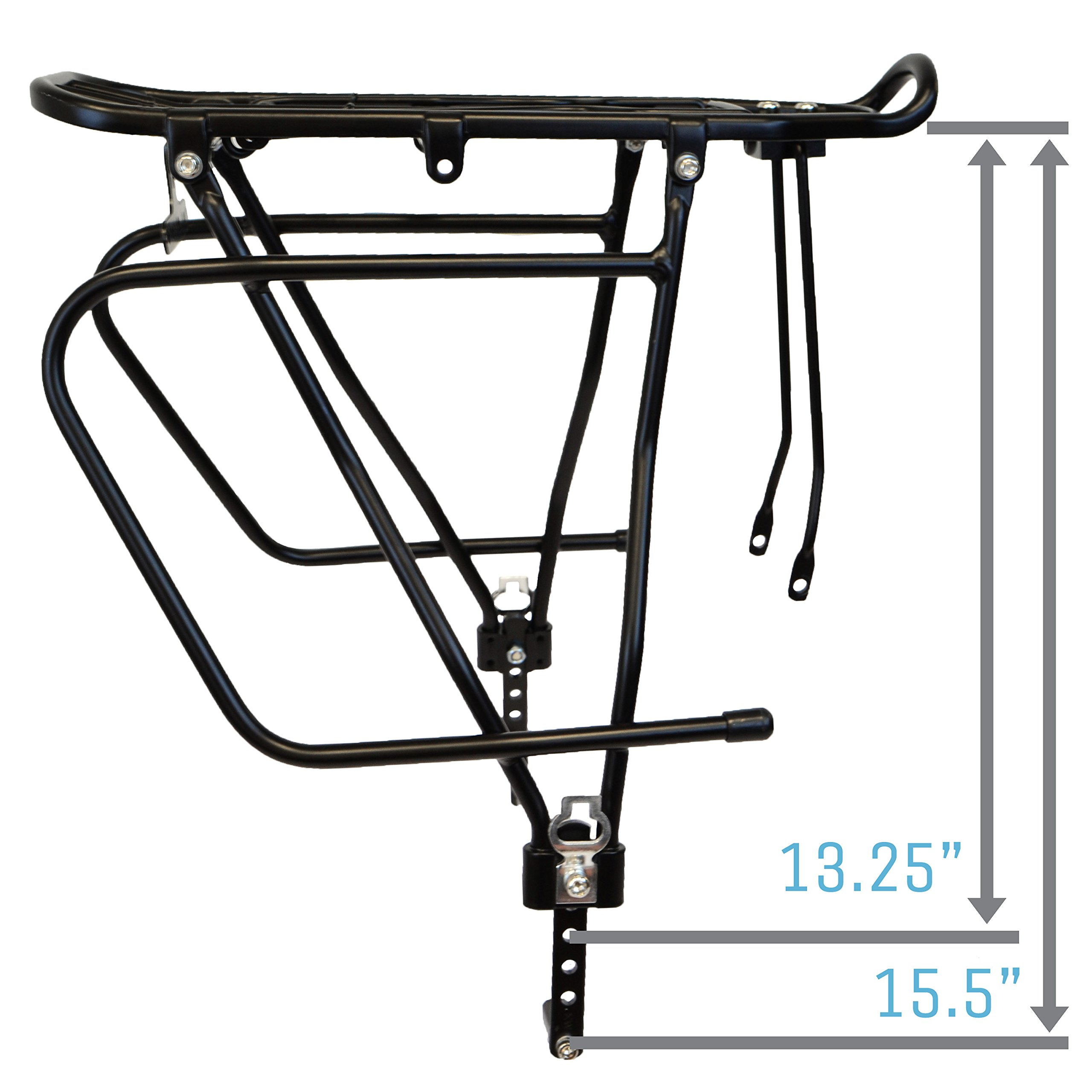Lumintrail Bicycle Rear Frame Mounted Cargo Rack for Disc Bikes Height Adjustable Commuter Carrier by Lumintrail (Image #9)